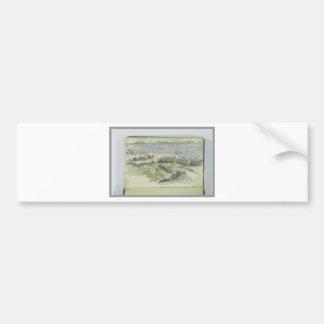 Vista de Tánger de Eugene Delacroix Pegatina Para Auto