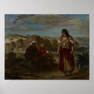 Vista de Tánger, Eugène 1852-1853 Delacroix Póster