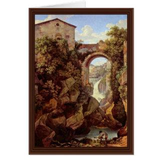 Vista de Tivoli del cristiano de Reinhart Juan (me Tarjeta De Felicitación
