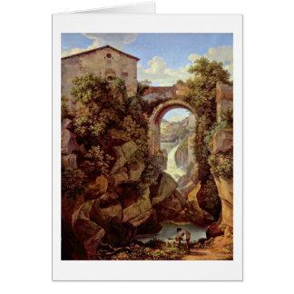 Vista de Tivoli del cristiano Reinhart de Juan Tarjeta De Felicitación