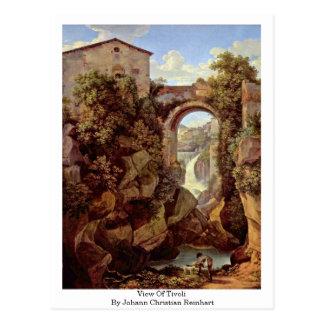 Vista de Tivoli del cristiano Reinhart de Juan Postales