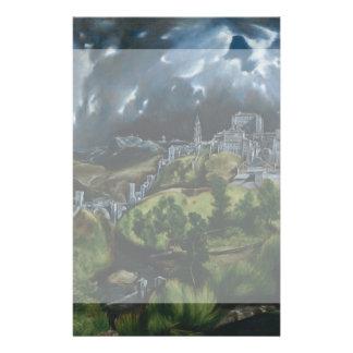 """Vista de Toledo de El Greco Folleto 5.5"""" X 8.5"""""""