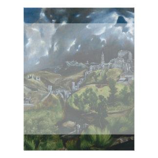 """Vista de Toledo de El Greco Folleto 8.5"""" X 11"""""""