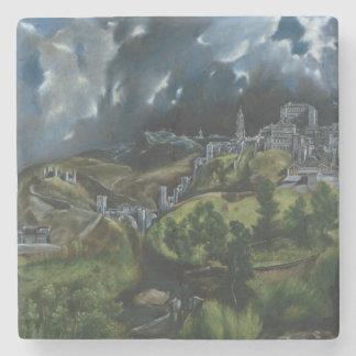 Vista de Toledo de El Greco Posavasos De Piedra