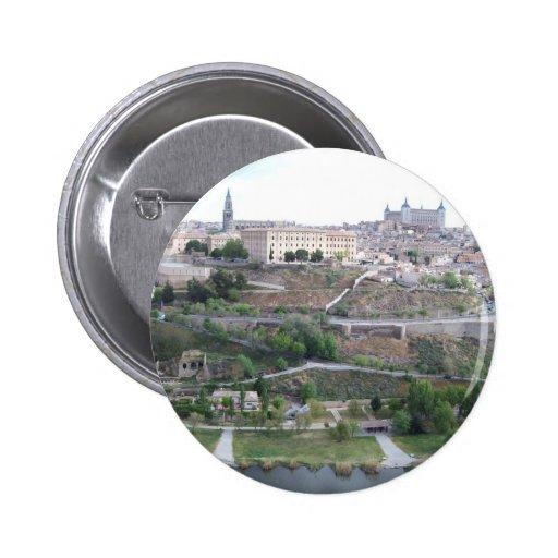 Vista de Toledo Pinback Button