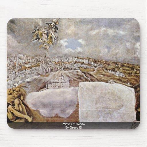 Vista de Toledo por el EL de Greco Tapetes De Ratón