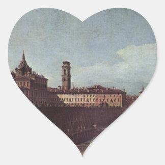 Vista de Turín de los jardines del Palazzo Pegatina En Forma De Corazón