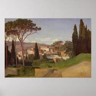 Vista de un chalet romano, 1844 póster
