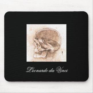Vista de un cráneo de Leonardo da Vinci circa 1489 Alfombrilla De Ratones