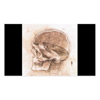 Vista de un cráneo de Leonardo da Vinci circa 1489 Tarjetas De Visita