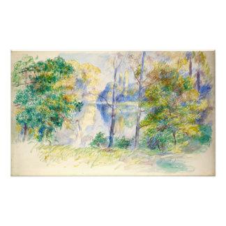 Vista de un parque de Pierre-Auguste Renoir Fotografías