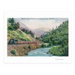 Vista de un tren que va al valle de Yosemite Postales