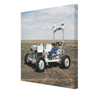 Vista de un vehículo lunar de 1-G Rover Impresion De Lienzo
