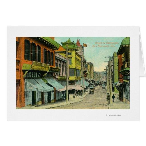 Vista de una calle de Chinatown Tarjetas