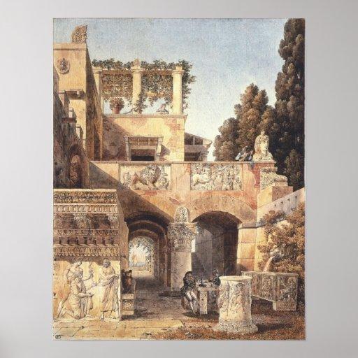Vista de una casa romana 1792 poster
