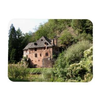 Vista de una casa señorial (foto) iman rectangular