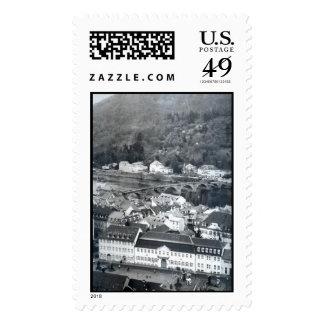 Vista de una ciudad sellos