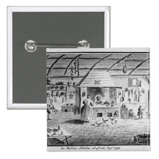 Vista de una cocina italiana en Lerici Pin Cuadrada 5 Cm