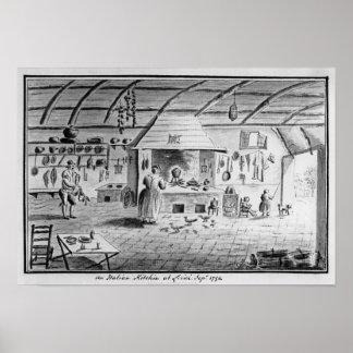 Vista de una cocina italiana en Lerici Póster