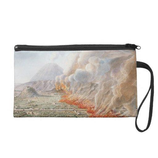 Vista de una erupción del monte Vesubio que comenz