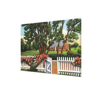 Vista de una residencia pintoresca impresión en tela