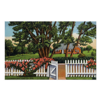 Vista de una residencia pintoresca póster