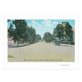 Vista de una residencia StreetGilroy, CA Postales