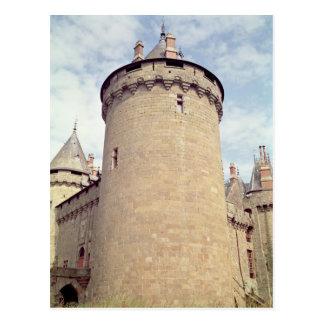Vista de una torre del castillo francés postales