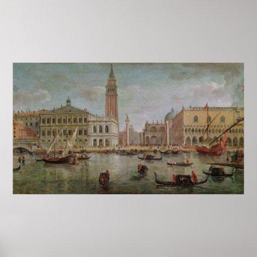 Vista de Venecia, 1719 Póster