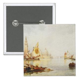 Vista de Venecia Pin Cuadrado
