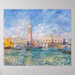 Vista de Venecia por Renoir Poster