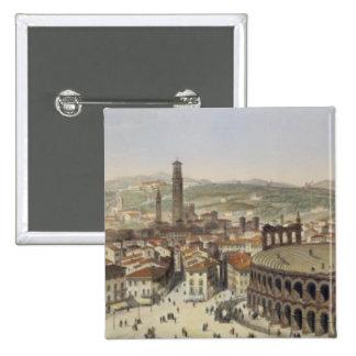 Vista de Verona, grabada por L. Cherbuin (en del c Pin Cuadrada 5 Cm