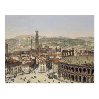 Vista de Verona, grabada por L. Cherbuin (en del Postal