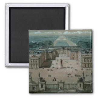 Vista de Versalles Imán Cuadrado