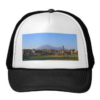 Vista de Vesuvio sobre las ruinas de Pompeya Gorras