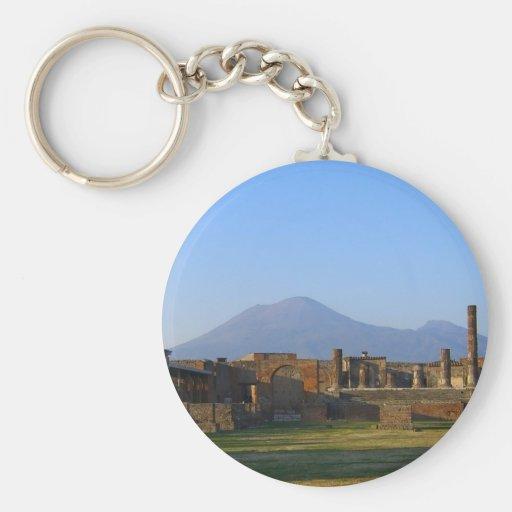 Vista de Vesuvio sobre las ruinas de Pompeya Llavero