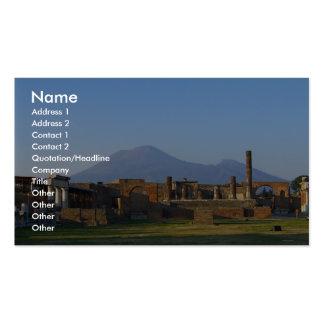 Vista de Vesuvio sobre las ruinas de Pompeya Plantilla De Tarjeta Personal