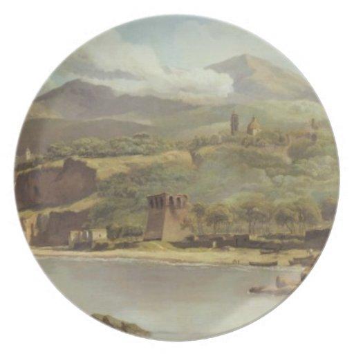 Vista de Vico Estense de Sorrento que mira hacia Plato De Comida