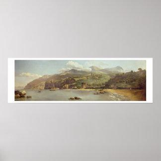 Vista de Vico Estense de Sorrento que mira hacia Posters