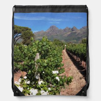 Vista de viñedos. Stellenbosch Mochilas