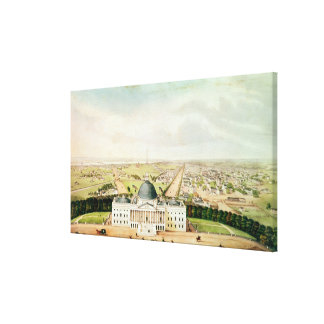Vista de Washington Impresión En Lienzo Estirada