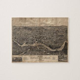 Vista de Watertown Massachusetts en 1879 Rompecabeza