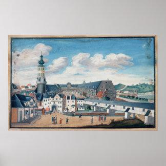 Vista de Weimar con el castillo de Wilhelmsburg Impresiones