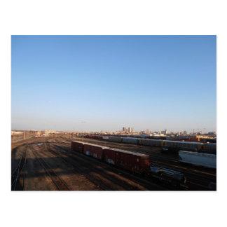 Vista de Winnipeg y de la yarda del tren Postal
