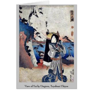 Vista de Yui por Utagawa, Toyokuni Ukiyoe Tarjeton