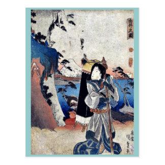 Vista de Yui por Utagawa, Toyokuni Ukiyoe Postales