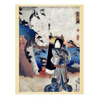 Vista de Yui por Utagawa, Toyokuni Ukiyoe Tarjeta Postal