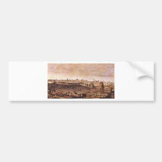 Vista de Zaragoza de Diego Velázquez Pegatina Para Auto