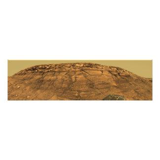 Vista del acantilado de las quemaduras en Marte Cojinete