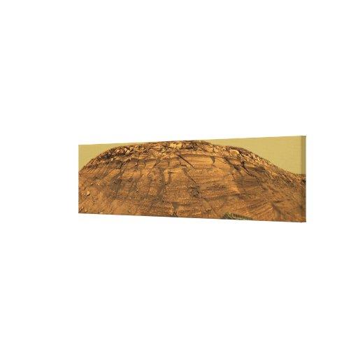 Vista del acantilado de las quemaduras en Marte Impresiones De Lienzo